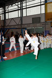 Championships Taekwon-do. GDANSK - MARCH 20 : Provincial Championships Taekwon-do of juniors and younger juniors with the participation of the spectators March Stock Images
