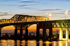 Champlain bridge Royalty Free Stock Images