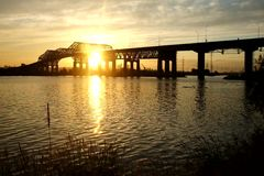 Champlain bridge stock video