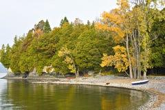 champlain brzegowy jeziorny Vermont Obrazy Royalty Free