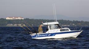 champlain clinton λίμνη αλιείας κολλε& Στοκ φωτογραφία με δικαίωμα ελεύθερης χρήσης