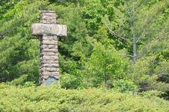 champlain de monument samuel Royaltyfri Foto