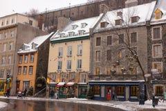 Champlain pequeno la ciudad de Quebec Foto de archivo
