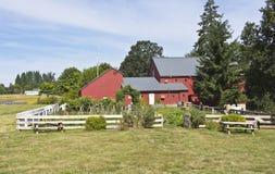 Champoeg delstatspark Oregon fotografering för bildbyråer