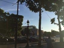 Champsélysées sunshine. Paris visit 2015 Champsélysées Royalty Free Stock Photo