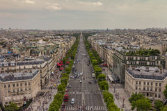 Champs-à ‰ lysées στο Παρίσι Στοκ φωτογραφία με δικαίωμα ελεύθερης χρήσης