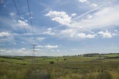 Champs écossais de paysage Photos stock