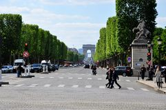 Champs Élysées Paris Royalty Free Stock Photo