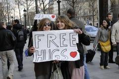 champs το ελεύθερο κορίτσι elysees & στοκ φωτογραφία με δικαίωμα ελεύθερης χρήσης