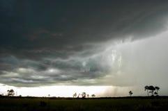 Champs d'un orage au-dessus des marais photographie stock libre de droits