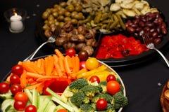 Champs de cablage à couches multiples végétariens et d'Antipasto Images stock