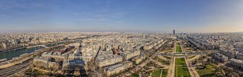 Champs de Mars & Seine Stock Photo