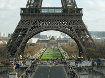 Champs de Mars under the Eiffel Tower, viewed from Trocadero pla. Ce, Paris, France Royalty Free Stock Photo