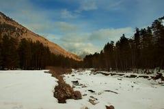Champs de neige dans les montagnes Image stock