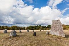 Champs de tombe de Gettlinge Photo libre de droits