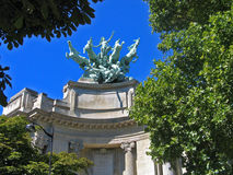 champs des elys ES μεγάλα palais Παρίσι Στοκ Εικόνες