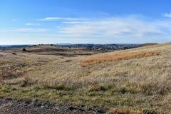 Champs des prairies avec les canyons scéniques tout autour photo stock
