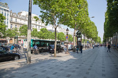 Champs Elisees Stock Photography