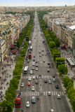 Champs Elys�es avenue view from Arch of Triumph Stock Image