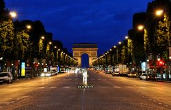The Champs Elysées Royalty Free Stock Photography