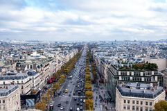 Champs Elysee avenue Royalty Free Stock Photography