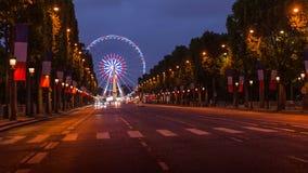 champs elysees Παρίσι Στοκ Εικόνες