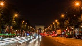 champs elysees Παρίσι Στοκ εικόνες με δικαίωμα ελεύθερης χρήσης