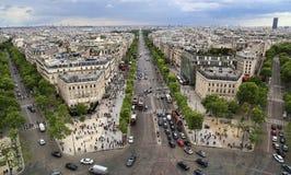 Champs-Elysees в Париже, Франции стоковое фото rf