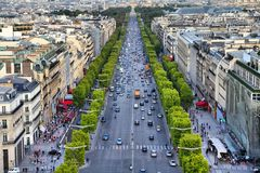 Champs-Elysees Royaltyfri Foto