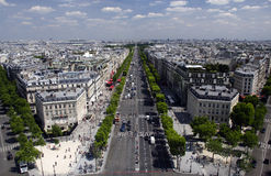 Champs-Elysees Arkivfoto