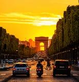 Champs Elysees Royalty-vrije Stock Fotografie