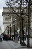 Champs Elysees and Arc de Triomphe, Paris. France Royalty Free Stock Photography
