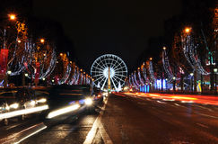 The Champs-Elysees avenue Royalty Free Stock Photos