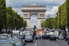 Champs Elysees Avenue Paris Stock Photos