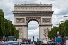 Champs Elysees Avenue Paris Royalty Free Stock Image