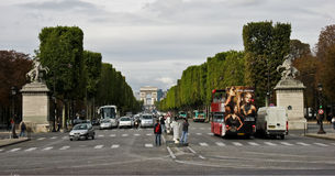 Champs Elysees Avenue Paris Stock Image