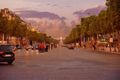 Champs Elysees avenue in Paris France Stock Image