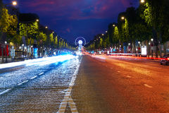 Champs Elysees avenue in Paris France Royalty Free Stock Photos