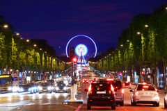 Champs Elysees avenue in Paris France Stock Images