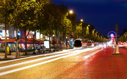 Champs Elysees avenue in Paris France Stock Photos