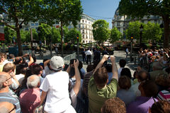 Champs Elysees Crowd Stock Photos