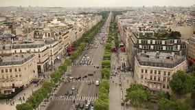Champs-Elysees em Paris france vídeos de arquivo