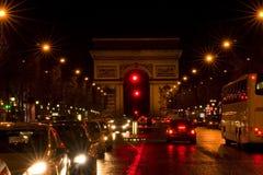 Champs-Elysees en París Imagen de archivo libre de regalías