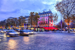 Champs-Elysees festivo Fotografia de Stock Royalty Free