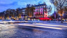 Champs-Elysees festivo Fotografia de Stock