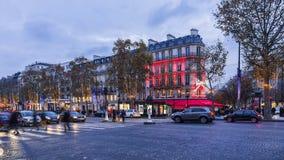 Champs-Elysees festivo Imagens de Stock