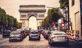 Champs-Elysees gata royaltyfri foto