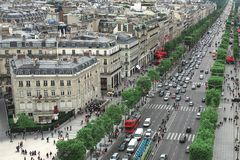 Champs Elysees i. N Paris France stock photo