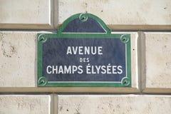 Champs Elysees in Parijs royalty-vrije stock afbeeldingen