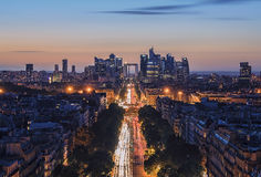 Champs-Elysees in Parijs royalty-vrije stock fotografie